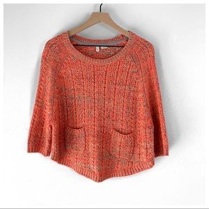 Anthropologie Moth Boatneck 3/4 Sleeve Sweater